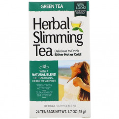 21st Century, Herbal Slimming Tea, Green Tea, Caffeine Free, 24 Tea Bags, 1.6 oz (45 g)