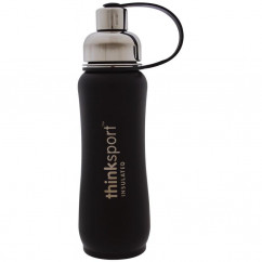 Think, Thinksport, Insulated Sports Bottle, Black, 17 oz (500 ml)