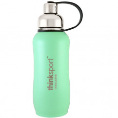 Think, Thinksport, Insulated Sports Bottle, Mint Green, 25 oz (750 ml)