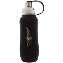 Think, Thinksport, Insulated Sports Bottle, Black, 25 oz (750 ml)