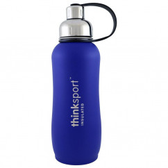 Think, Thinksport, Insulated Sports Bottle, Blue, 25 oz (750ml)