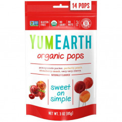 YumEarth Organic Pops Assorted Flavors 14 Pops 3 oz (85 g)