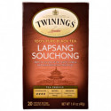Twinings 100% Pure Black Tea Lapsan Souchong 20 Tea Bags 1.41 oz (40 g) Each