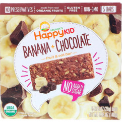 Happy Family Organics Happy Kid Banana + Chocolate Fruit & Oat Bar 5 Bars 0.99 oz (28 g) Each