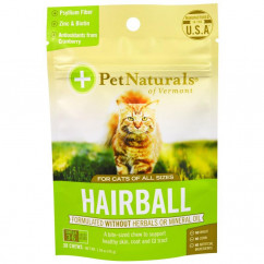 Pet Naturals of Vermont Hairball For Cats 30 Chews 1.59 oz (45 g)