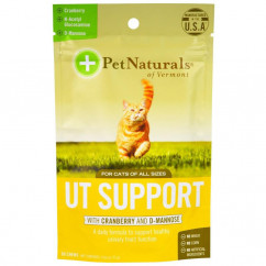 Pet Naturals of Vermont UT Support with Cranberry and D-Mannose For Cats 60 Chews 2.65 oz (75 g)
