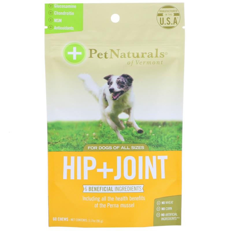 Pet Naturals of Vermont Hip + Joint For Dogs All Sizes 60 Chews 3.17 oz (90 g)