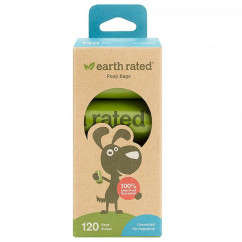 Earth Rated, Dog Waste Bags, Unscented, 120 Bags, 8 Refill Rolls