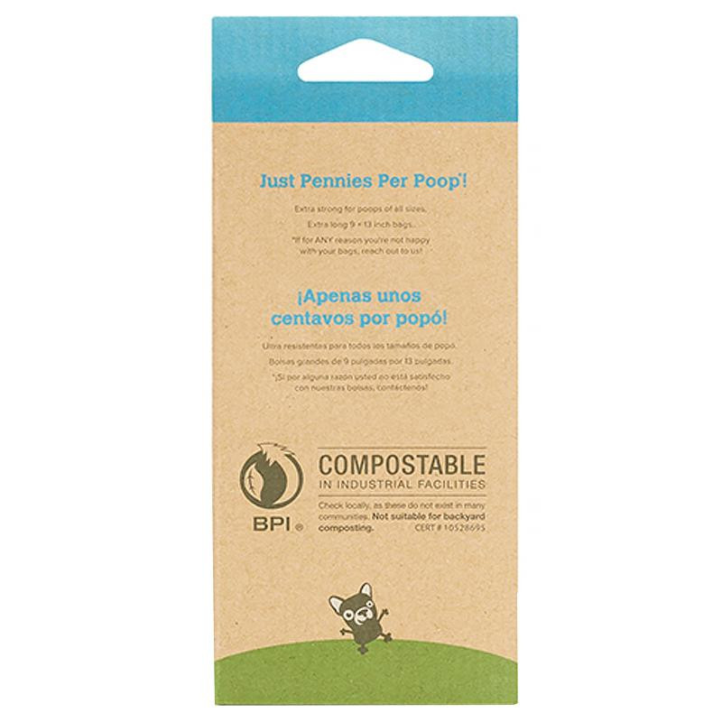 Earth Rated Compostable Dog Bags Unscented 60 Bags 4 Refill Rolls