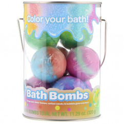 Crayola Bath Bombs Grape Jam Laser Lemon Cotton Candy & Bubble Gum Scented 8 Bath Bombs 11.29 oz (320 g)