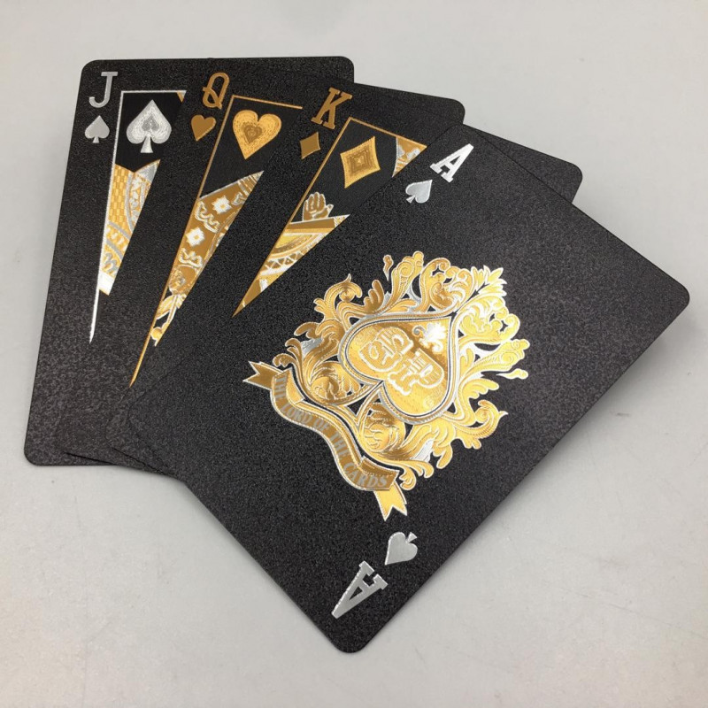 Dal Rossi Italy Luxury Black Playing Cards and Gold & Silver Plated Writing ***Introductory Price****