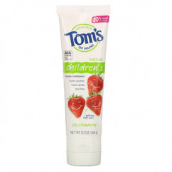 Tom's of Maine, Children's, Fluoride Toothpaste, Silly Strawberry, 5.1 oz (144 g)