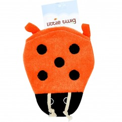Little Twig Lady Bug Bath Mitt