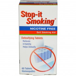 NatraBio, Stop-it Smoking, Detoxifying Tablets, Nicotine Free, 60 Tablets