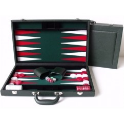 "Dal Rossi Green Backgammon 15"" PU Leather"