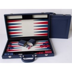 "Dal Rossi Blue Backgammon 18"" PU Leather"