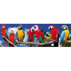 PANORAMA Jigsaw Puzzle - Parrots 120 Pieces
