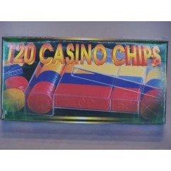 Casino Chips & Accessories - Economy Includes, Casino Chips, Boxed 120 Pieces