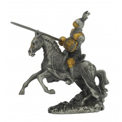 Dal Rossi Pewter Jousting Armored Knight All Pewter Figurines height from 110mm to 160mm