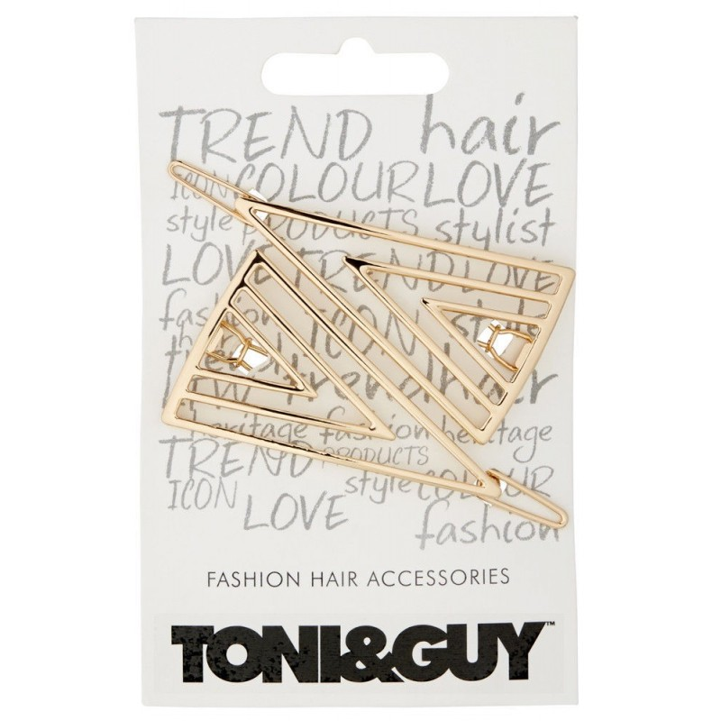 Toni&Guy Triangle Hair Barrette NEW ! Rose Gold or Silver