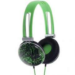 Moki Dome Headphones Graffiti Green