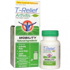 MediNatura, T-Relief, Arthritis Pain Relief Tablets, 100 Tablets