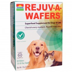 Sun Chlorella, Rejuv-A-Wafers, Superfood Treat for Dogs & Cats, 60 Wafers