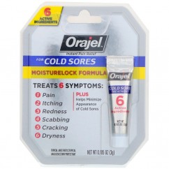 Orajel, Moisturelock Formula Cold Sore Treatment, 0.105 oz (3 g)