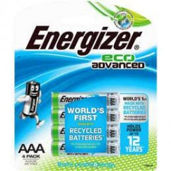 Energizer Eco Advanced Aaa Batteries 4 Pack